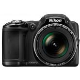 Nikon Coolpix L830 Digitalkamera (16 Megapixel, 34-fach opt. Zoom, 7,6 cm (3 Zoll) RGBW-LCD-Display, bildstabilisiert, Dynamic-Fine-Zoom, Full-HD) schwarz