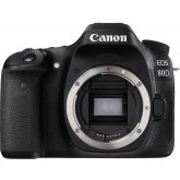 Canon EOS 80D SLR-Digitalkamera (24,2 Megapixel, 7,7 cm (3 Zoll) Display, APS-C CMOS Sensor, 45 AF-Kreuzsensoren, DIGIC 6 Bildprozessor, NFC und WLAN, Full HD) nur Gehäuse schwarz