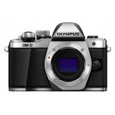 Olympus OM-D E-M10 Mark II Systemkamera (16 Megapixel, 5-Achsen VCM Bildstabilisator, elektronischer Sucher mit 2,36 Mio. OLED, Full-HD, WLAN, Metallgehäuse) nur Gehäuse silber