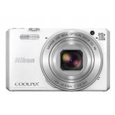 Nikon Coolpix S7000 Digitalkamera (16 Megapixel, 20-fach opt. Zoom, 7,6 cm (3 Zoll) LCD-Display, USB 2.0, bildstabilisiert) weiß