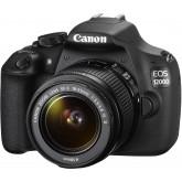 Canon EOS 1200D SLR-Digitalkamera (18 Megapixel, 7,5 cm (3,0 Zoll) Display) Kit inkl. 18-55mm IS Objektiv + 16GB Eye-Fi Speicherkarte schwarz