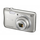 Nikon Coolpix S3700 Digitalkamera (20 Megapixel, 8-fach opt. Zoom, 6,7 cm (2,6 Zoll) Display, Wi-Fi, NFC, Panorama-Assistent) silber