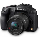 Panasonic LUMIX G DMC-G6KEG-K Systemkamera (16 Megapixel, 3 Zoll Touchscreen, OLED Sucher, dreh- und schwenkbares LC-Display) mit Objektiv H-FS14042E schwarz