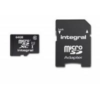 Integral INMSDX64G10-40U1 Memory card microSDXC 64GB CL10 + Adapteris-21