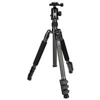 SIRUI KTV224 Stativset (CARBON Dreibeinstativ , Höhe: 155cm, Gewicht: 1,3+0,3kg, Belastbarkeit: 12kg) schwarz mit Kopf E-20 und Platte TY-50E-22