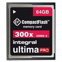 COMPACTFLASH 64GB ULTIMA PRO 300X INCF64G300W By INTEGRAL-21