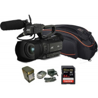 Kit Camcorder GY-HM170 JVC 4K ULTRA HD with handled, microphone JVC MIC-QAN0067 + 1 Battery + 1 Battery charger + 1 Memory Card Sandisk 64Gb 95Mb + Bag-21