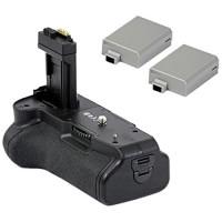 Minadax Batteriegriff and 2 Akkus wie LP-E8 für Canon EOS 650D, 600D und 550D ersetzt BG-E8, inklusive 2x Akku Power-22