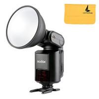 Godox Witstro AD360II-C 360W / sGN80 Tragbares TTL 2.4G drahtloses externes grelles helles LCD-Verkleidung für Canon Digitalkamera + LETWING Microfiber sauberes Tuch Schwarzes (ad360ii-c)-22