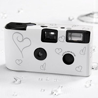 10 Hochzeitskameras Einwegkameras, weiss-21