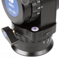 SIRUI VH-20 Fluid Videoneigekopf (Alu, Höhe: 175mm, Gewicht: 2.1kg, Belastbarkeit: 25kg) schwarz mit Wechselplatte VH-125-22