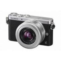 Panasonic Lumix DMC-GM1 Systemkamera (16 Megapixel, 7,6 cm (3 Zoll) Display, Full HD, optische Bildstabilisierung, WiFi) schwarz/silber mit dem Objektiv G Vario 12 bis 32 Millimeter f3.5-5.6-22