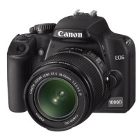 Canon EOS 1000D SLR-Digitalkamera (10 Megapixel, Live-View) Kit inkl. EF-S 18-55mm IS-22