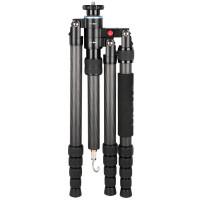 SIRUI S-2205-N Snap Universal Drei-/Einbeinstativ (Carbon, Gewicht: 1,4kg, Belastbarkeit: 12kg) mit Tasche und Gurt-22