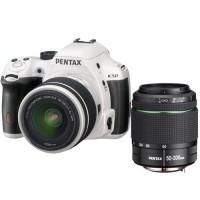 Pentax K 50 Kit weiÌÙ + DAL 18-55 WR + 50-200 WR-21