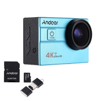 Andoer Ultra HD Action Sports Camera 2.0 LCD 16 MP 4 K 25 fps 1080P 60 fps 4 x Zoom Wifi 25 mm 173 degreés wide-lens étanch 30 m Auto DVR DV Cam Tauchen Fahrrad Aktivitäten + 16 GB 10 Class Karte Micro SD-21