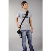 Hama Kameragurt Quick Shoot Strap (Schultergurt längenverstellbar bis 150 cm, Neopren, weich gepolstert, Sling universal passend für DSLR/Spiegelreflexkamera) schwarz-22