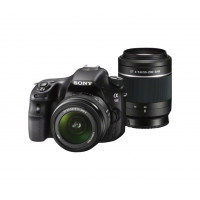 Sony SLT-A58Y SLR-Digitalkamera (20,1 Megapixel, 6,7 cm (2,7 Zoll) LCD-Display, APS HD CMOS-Sensor, HDMI, USB 2.0) inkl. SAL 18-55mm and SAL 55-200mm Objektiv schwarz-22