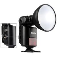Mcoplus Godox Witstro AD360II-N TTL-HSS 360W GN80 leistungsstarke 2.4G Wireless X System Speedlite Blitzlicht + 4500mAh-PB960-Lithium-Batterie für Nikon Kamera + Mcoplus Reinigungstuch-22