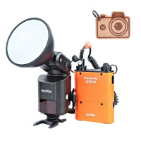 Godox WITSTRO ad360ii TTL 360 W GN80 Leistungsstark 2.4 G Wireless X-System Speedlite Flash Light + 4500 mAh PB960 Lithium-Akku für Kamera-22