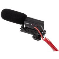 Hama Richtmikrofon für Camcorder, Spiegelreflex und Systemkameras, Umschaltbare Richtcharakteristik, RMZ-18, Schwarz-22