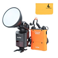 Godox Witstro AD360II-N TTL 360W GN80 Powerful Speedlite Flash Light + 4500mAh PB960 Lithium Battery for Nikon Camera ((AD360II-NOrange)-22