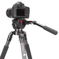 Sirui VH-10 Fluid Videoneiger/Videokopf mit Schnellwechselplatte 90mm (flache Basis, Arm verlängerbar, Aluminium) schwarz-22
