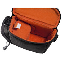 Hama Reise-Kameratasche für eine kompakte Systemkamera mit zwei Objektiven, Seattle 110, Schwarz-22