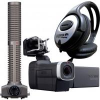 Zoom Q8 Handy Audio Video Rekorder Camcorder Kamera + SSH-6 Shotgun Mikrofon + KEEPDRUM Kopfhörer-22
