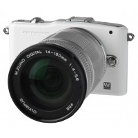 Olympus Pen E-PM1 Systemkamera (12 Megapixel, 7,6 cm (3 Zoll) Display, bildstabilisiert) weiß mit 14-150mm Objektiv silber-22