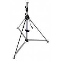 Manfrotto Stativ Super Wind-Up Inox Silber-21