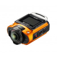 Ricoh WG-M2 kompakte und leichte Actioncam (4K-Video, 204 Grad Ultraweitwinkel-Objektiv) orange-22