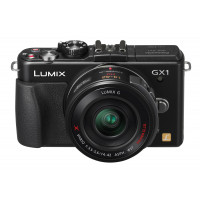 Panasonic Lumix DMC-GX1X Systemkamera (16 Megapixel, 7,5 cm (3 Zoll) Touchscreen, LiveView, bildstabilisiert) schwarz inkl. Pancake Powerzoom X-Vario Objektiv 14-42mm-22