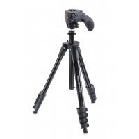 Manfrotto Compact Action. schwarz Stativ-Set mit Foto-Videokopf u.Tasche-22
