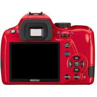 Pentax K 50 SLR-Digitalkamera (16 Megapixel, APS-C CMOS Sensor, 1080p, Full HD, 7,6 cm (3 Zoll) Display, Bildstabilisator) rot inkl. Objektiven DA L 18-55 mm WR and DA L 50-200 mm WR-22