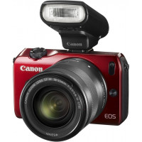Canon EOS M Systemkamera (18 Megapixell, 7,7 cm (3 Zoll) Display, Full-HD, Touch-Display) Kit inkl. EF-M 18-55mm 1:2,0 STM Objektiv und Speedlite 90EX rot-22