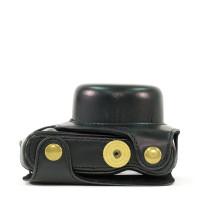 MegaGear Leder Kameratasche für Panasonic Lumix DMC-GF7 mit 12-32mm Kompakte Systemkamera (Schwarz)-22