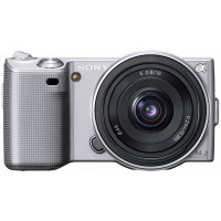 Sony Alpha NEX-5 Silver Digital Camera and Sony 16mm lens-22
