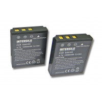 INTENSILO 2x Li-Ion Akku 1250mAh (3.7V) für Kamera Camcorder Video Medion Traveler DC-X5, DC-XZ6 wie DS8330-1, BATS8, BLI-315.-21