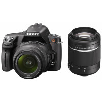 Sony DSLR-A390Y SLR-Digitalkamera (14,9 Megapixel, 6,9 cm (2,7 Zoll) Display) Double Zoom Kit inkl. DT 18-55 mm SAM und DT 55-200 mm SAM Objektiv schwarz-22