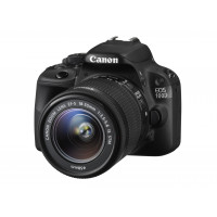 Canon EOS 100D SLR-Digitalkamera (18 Megapixel, 7,6 cm (3 Zoll) Touchscreen, Full HD, Live-View) Kit inkl. EF-S 18-55mm 1:3,5-5,6 IS STM-22