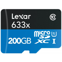 Lexar High-Performance microSDXC 633x 200GB UHS-I/U1 w/USB 3.0 Reader Flash Speicherkarte LSDMI200BBEU633-22