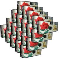 """20x PHOTO PORST Hochzeitskamera / Einwegkamera """"rote Rose + Ringe"""" (deutsche Bedienungsanleitung, mit Blitzlicht und Batterien, je 27 Fotos, ISO 400 Fuji)-22"""