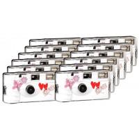 TopShot Love Hearts red Einwegkamera / Hochzeitskamera (27 Fotos, Blitz, 12-er Pack)-21