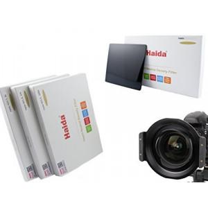 Haida Optical Neutral 3er Graufilter Set für Tokina AT-X 16-28mm f/2.8 Pro FX Vollmetall Filterhalter mit 3 verschiedenen ND Filtern in der Größe 150 mm x 150 mm ND0.9 (8x) / ND1.8 (64x) / ND3.0 (1000x)-22