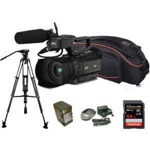 Kit Camcorder GY-HM170 JVC 4K ULTRA HD with handled, microphone JVC MIC-QAN0067 + 1 Battery + 1 Battery charger + 1 Memory Card Sandisk 64Gb 95Mb + Bag + Tripod-21