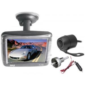 Pyle TFT-LCD Schlank-Fenster Saughalterung-Monitor 8,9 cm (3,5 Zoll) mit Dual-Berg-Rückfahrkamera und Nachtsicht-22