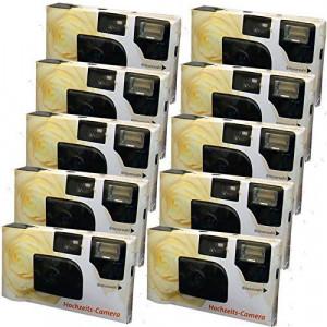 """10x PORST Hochzeitskamera / Einwegkamera """"creme-gelbe Hochzeitsrose"""" (deutsche Bedienungsanleitung, mit Blitzlicht und Batterien, je 27 Fotos, ISO 400 Fuji)-22"""