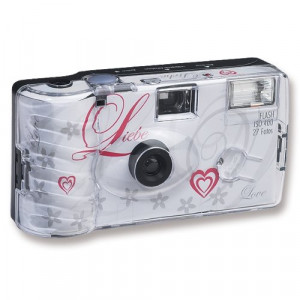 30x Hochzeitskamera Einwegkamera Liebe weiss-22