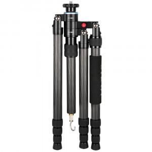 SIRUI S-2204-N Snap Universal Drei-/Einbeinstativ (Carbon, Gewicht: 1,4kg, Belastbarkeit: 15kg) mit Tasche und Gurt-22